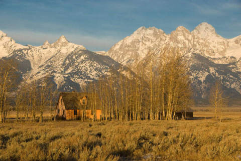 Grand Teton Nationalpark, Wyoming of artist Günter Wamser (F1 Online) as framed image