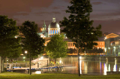 Bonsecours Market, Altes Montreal, Kuppeln of artist All Canada Photos (F1 Online), Old, One, Dawn, Town, View, Light, Tales, Night