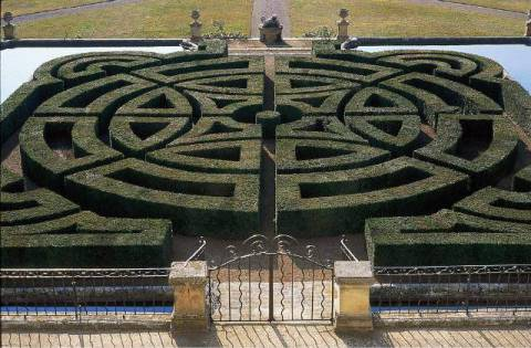 Aix Provence, Labyrinth of artist Duranti/Wallis (F1 Online) as framed image