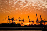 Glowimages RM (F1 Online) - Dockside, Backbord-Of Miami-Dade, Industrie-Ausstattung, Logistik, Kraniche
