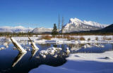 All Canada Photos (F1 Online) - Bogental, Snowscape, Halterungs-Rundle, Zinnoberroter See, Rundle