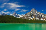 All Canada Photos (F1 Online) - Niedrigerer Waterfowl Lake, Chephren, Halterung Chephren