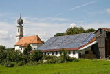 Norbert Michalke (F1 Online) - Solar system on an agricultural building in Bavaria, Germany