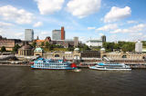 Ott (F1 Online) - Barges in front of fish market, Hamburg, Germany