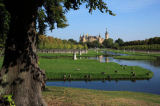 W. Otto (F1 Online) - Palace garden and Schwerin Castle in the background, Schwerin, Germany
