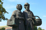 W. Otto (F1 Online) - Statues on a fountain, Quakenbrueck, Germany, low angle view