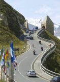 Austrophoto (F1 Online) - Traffic on the Grossglockner High Alpine Road, Austria, elevated view