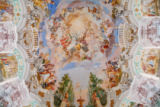 Beate Münter (F1 Online) - Ceiling fresco of an pilgrimage church, Steinhausen, Germany, directly below