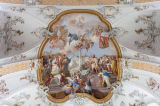 Beate Münter (F1 Online) - Ceiling fresco of an abbey, Ottobeuren, Germany, directly below