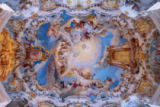 Beate Münter (F1 Online) - Ceiling fresco of the Wieskirche, Steingaden, Germany, directly below