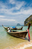 Norbert Hohn  (F1 Online) - Longtail boats on the beach of Ko Muk, Thailand