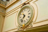 Austrophoto (F1 Online) - Wall clock in the Passage Bourg-l?Abbé, Paris, France, close-up