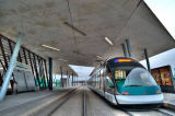 Austrophoto (F1 Online) - Tram line at the station Hoenheim Gare in Strasbourg, France