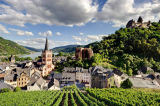 Steiner (F1 Online) - View on Bacharach with Church St. Peter, Werner Chapel and Stahleck Castle, Germany