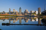 First Light (F1 Online) - Montreal Skyline reflected in the Lachine Canal at Sunrise, Quebec, Canada