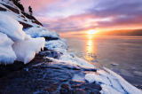 First Light (F1 Online) - Ice and Saguenay Fjord at sunrise, Sainte-Rose-du-Nord, Quebec