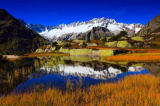 Prisma (F1 Online) - Alps, Alpine panorama, view, panorama, mountains, mountain massif, mountain panorama, mountain lake, peak, Dammastock, cliff, ro