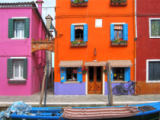 Prisma (F1 Online) - Italy, Europe, Burano Island, near Venice, Venezia, colorful, houses, lively, narrow street, alley