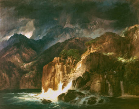 Prometheus of artist Arnold Böcklin, 1882, Italy, 3-b20, Coast, German, Arnold, Scenery, Picture