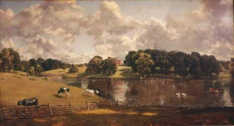 Wivenhoe Park, Essex of artist John Constable, John, Beef, 1816, Park, Boat, Fence, Essex, Parks