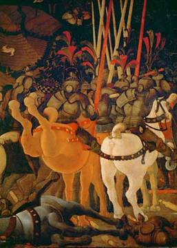 The Battle of San Romano of artist Paolo Uccello as framed image
