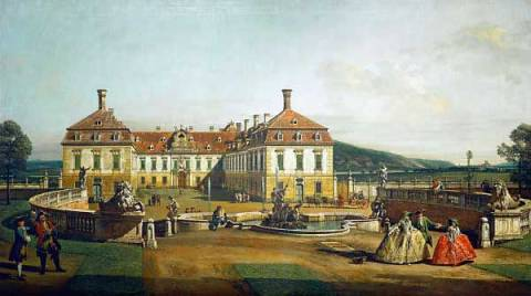 The imperial pleasure palace of artist Bernardo Bellotto as framed image