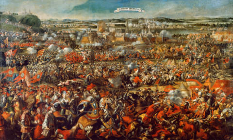 The Siege of Vienna by Tirggn 1683 of artist AKG Anonymous as framed image