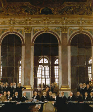 The Signing of Peace/Gemälde Orpen von Künstler Sir William Orpen, Great, Orpen, Wilson, Geding, Thomas, George, States, Malerei