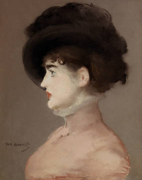 Portrait of Irma Brunner of artist Edouard Manet, Hat, Shot, 46cm, 1882, 19th, Irma, Manet, Youth