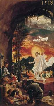 The Resurrection of Christ of artist Albrecht Altdorfer as framed image