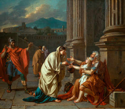 Belisarius of artist Jacques-Louis David, Who, 1784, Male, Pity, Louis, Scene, Shame, 115cm
