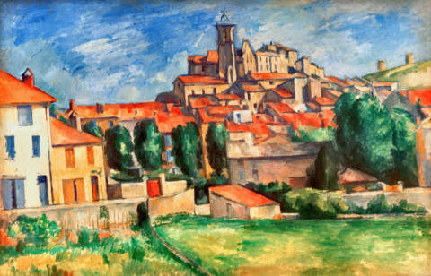 Gardanne of artist Paul Cézanne as framed image