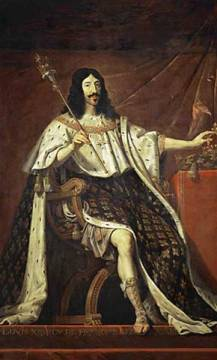 Louis XIII of France /Champaigne/ c.1640 of artist Philippe de Champaigne, 17th, Robe, Xiii, King, 150cm, Louis, Ermine, Crafts