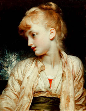 Gulnihal of artist Lord Frederick Leighton, 1886, Rose, Girl, Lord, Human, Child, Schöne, Person