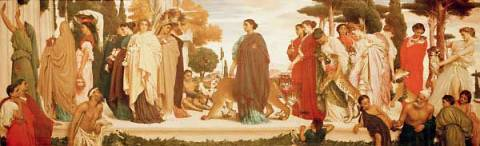 The Syracusan Bride Leading Wild Beasts in Procession to the Temple of Diana of artist Lord Frederick Leighton as framed image
