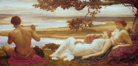 Idyll of artist Lord Frederick Leighton as framed image