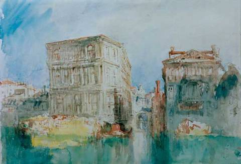 Venice: The Casa Grimani and Rio San Luca on the Grand Ganal of artist Joseph Mallord William Turner as framed image