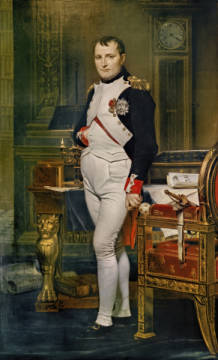 Napoleon Bonaparte in his Study at the Tuileries, 1812 of artist Jacques-Louis David, 1821, 1812, Room, Louis, Clock, Kress, Award, 125cm