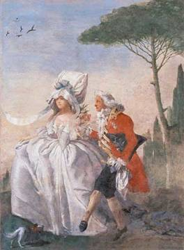 Il Minuetto in Villa of artist Giovanni Domenico Tiepolo, 1791, Life, 150cm, Music, Villa, Living, Womens, Canvas