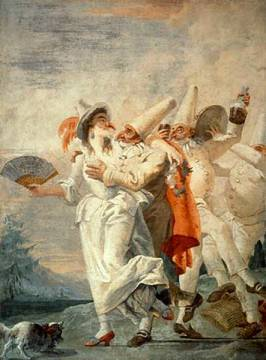 Jester in Love of artist Giovanni Domenico Tiepolo, Dei, 196, Onto, 18th, Love, Gras, Clown, Italy