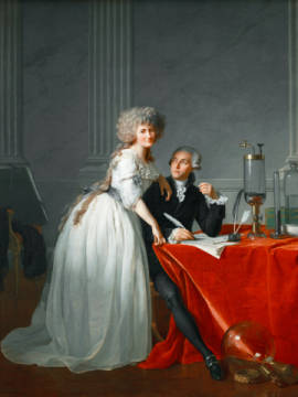 Antoine Laurent de Lavoisier and his wife of artist Jacques-Louis David as framed image