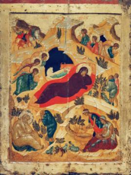Nativity from the Jesus Mafa paintings (Cameroon