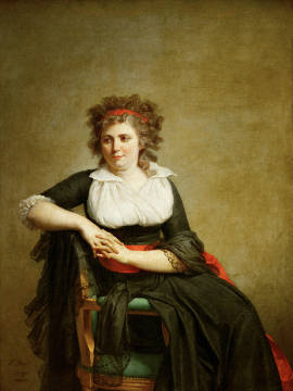 Portrait de Mme d'Orvilliers of artist Jacques-Louis David as framed image