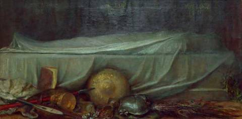 Sic Transit of artist George Frederick Watts, Out, 102, Sic, 204, Dead, 19th, Body, 1890