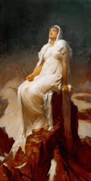 The Spirit of the Summit of artist Lord Frederick Leighton, Mrs, 7cm, 19th, Lord, 1894, Range, Davis, Earth