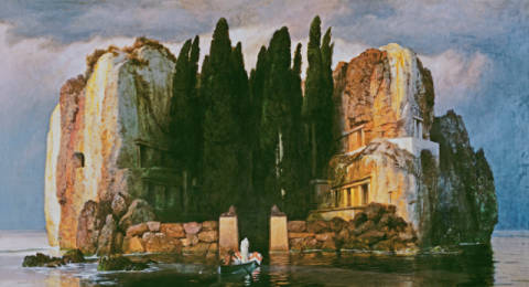 The Isle of the Dead II of artist Arnold Böcklin as framed image