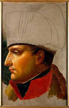 Napoleon I of artist Wien, Man, 1821, 1804, David, France, Empire, French, Sketch