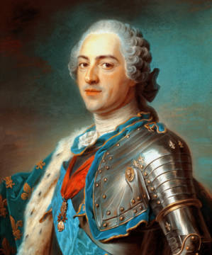 Louis XV / Pastel by de La Tour of artist Maurice Quentin de la Tour, Man, Tour, King, Order, Louis, Armor, Musee, Paris