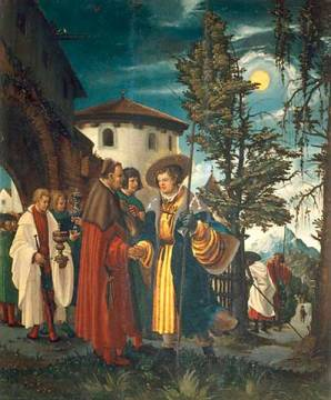 Departure of Saint Florian of artist Albrecht Altdorfer, Inv, 16th, Wood, Foot, Trip, 67cm, Depot, Saint