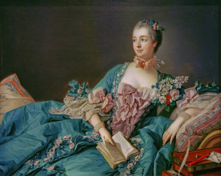 Madame de Pompadour / Boucher of artist François Boucher as framed image
